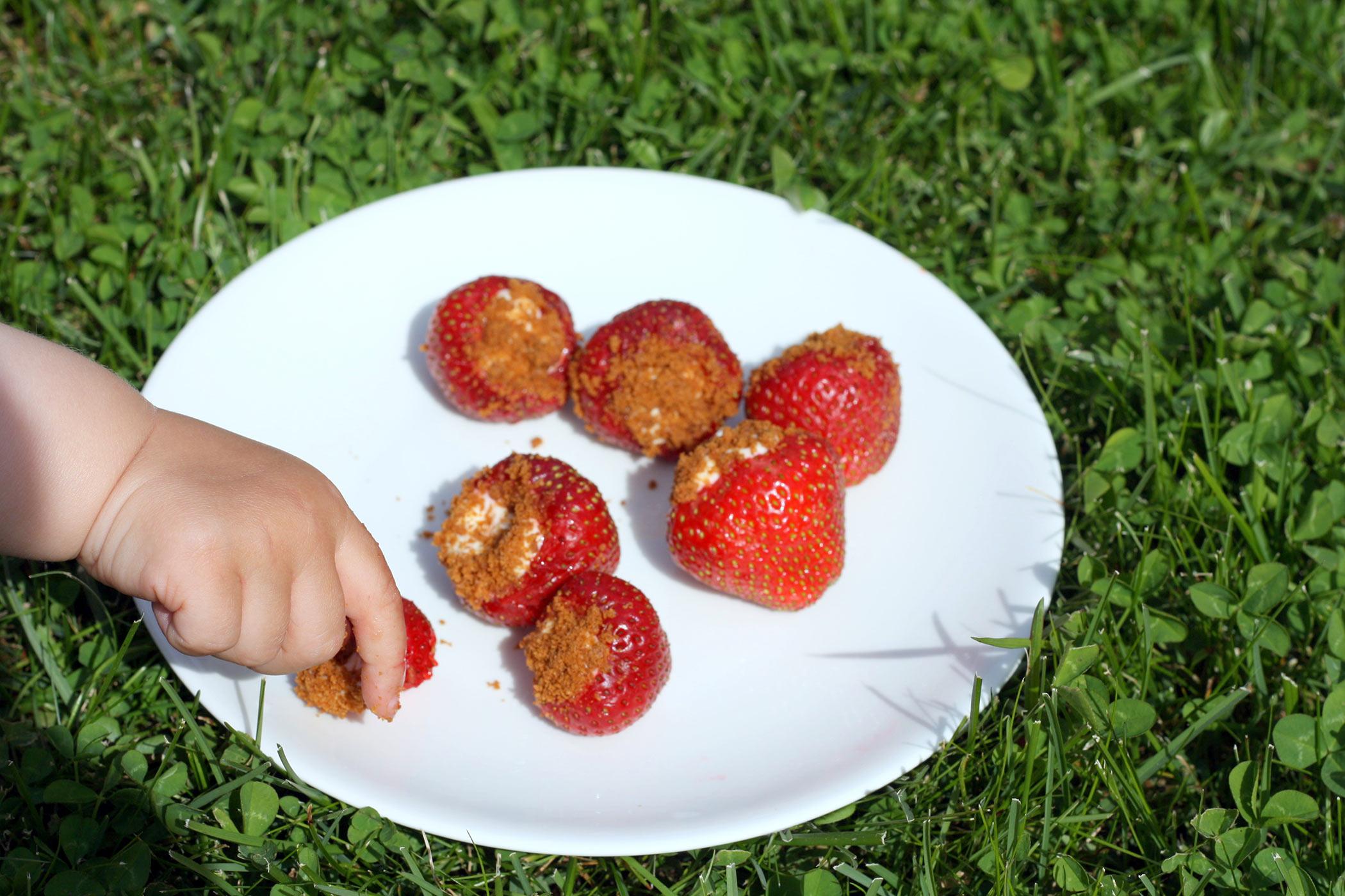 Fyllda jordgubbar